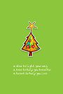 Christmas Card - Wild Lime Wish Tree by Karin  Taylor