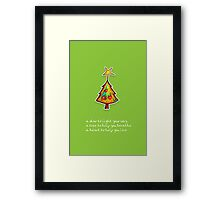 Christmas Card - Wild Lime Wish Tree Framed Print