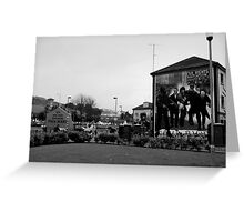 Derry City, Rossville Street Greeting Card