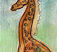 Cute Giraffe by Fiona Lokot