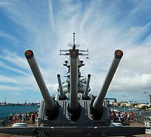 The U.S.S. Missouri and its 16 inch guns by Greg Kolio Taylor