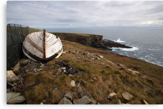 The old boat at Mizen Head by Donncha O Caoimh
