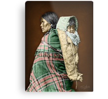 Ute woman and child Metal Print