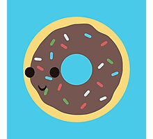 Cute Chocolate Glazed donut with sprinkles Photographic Print