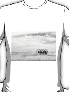 Hay rake -  {Black & White} (Farm equipment) Location: Free state, South Africa T-Shirt