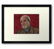 Checkpoint - Quentin Travers - BtVS Framed Print