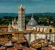 View over a Church in Siena by Prussia