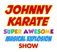 Johnny Karate super awesome musical explosion show Photographic Print