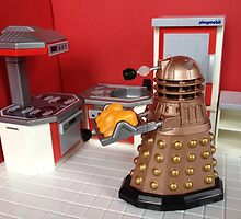 Dalek Baking Bread by livrose