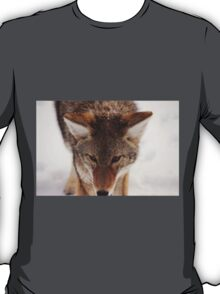 Wolf Nature Snow Vintage Natural Filter Photography T-Shirt