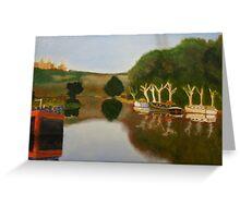 Rhone river Greeting Card