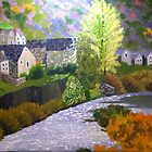 Village by the stream by frank sharp