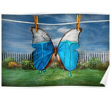 Butterfly - Morpho - I hate it when the colors run Poster