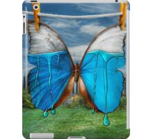 Butterfly - Morpho - I hate it when the colors run iPad Case/Skin