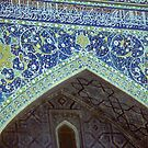 Mosaic detail, Medresseh, Registan Square by cascoly