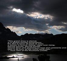 Eternal Sunset on Garnet Lake by Mar Silva