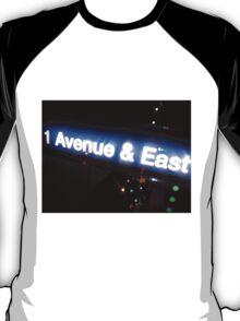 New York-Avenue & East T-Shirt