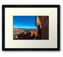 Down in The Canyon, Bryce Canyon Framed Print