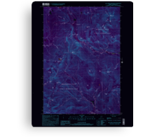 Maine USGS Historical Map Old Speck Mountain 102845 2000 24000 Inversion Canvas Print