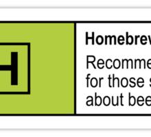 Homebrewing Classification Sticker
