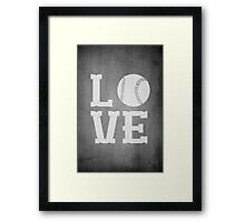 Baseball Love 2 Framed Print