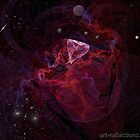 Heart-shaped nebula by Ingrid Funk