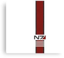 White N7 Stripe Canvas Print
