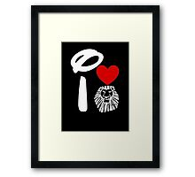 I Heart The Lion King (Inverted) Framed Print