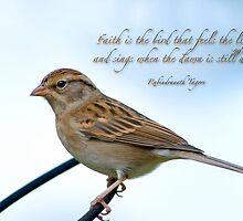Faith is the bird . . . by Bonnie T.  Barry