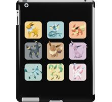 Origami Eeveelutions in Squares iPad Case/Skin