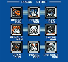 Transformers Megaman Style Design (Autobot) by ItsJustMeAgain