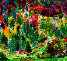 Colourful Spots of Autumn by Nira Dabush