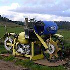 Motorbike Letterbox by Josie Jackson