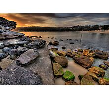 On The Rocks - Balmoral Beach - The HDR Series Photographic Print