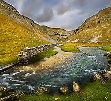 Valley Below Gordale Scar by eddiej