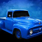 Blue F Truck by Keith Hawley