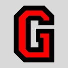 Letter G Two Color Red Black Character by theshirtshops