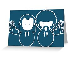 Pulp Fiction Vince & Jules Cartoons Greeting Card