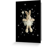 christmas angel bunny Greeting Card