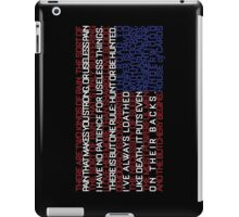 House of Cards Typography iPad Case/Skin