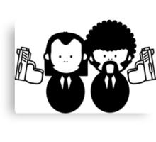 Pulp Fiction Vince & Jules Cartoons v.2.0 Canvas Print