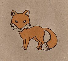 Recycled Fox #1 by Shara