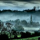 Chiselborough Misty Morning by SWEEPER