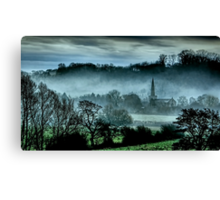 Chiselborough Misty Morning Canvas Print
