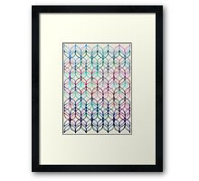 Mermaid's Braids - a colored pencil pattern Framed Print