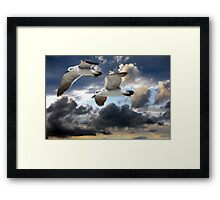 Above the sky Framed Print