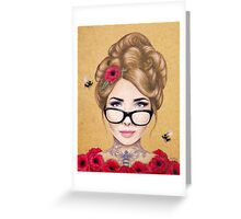 Blood Honey Greeting Card