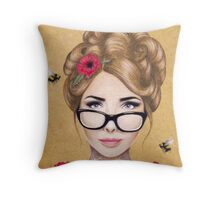 Blood Honey Throw Pillow
