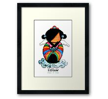 Rainbow - Angel of Hope Framed Print