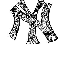 NY Yankees zentangle by Sarah333